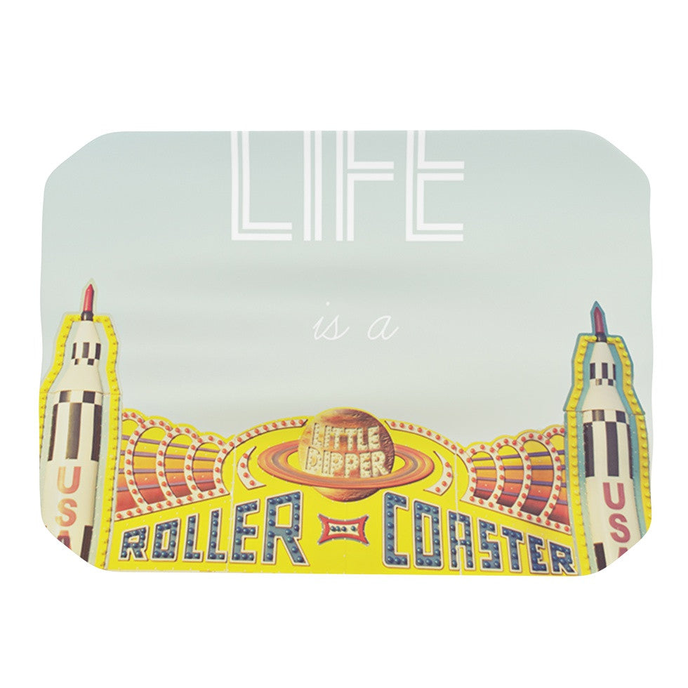 "Libertad Leal ""Life is a Rollercoaster"" Place Mat - KESS InHouse"