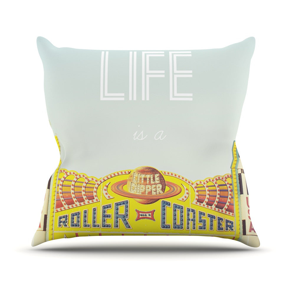 "Libertad Leal ""Life is a Rollercoaster"" Throw Pillow - KESS InHouse  - 1"
