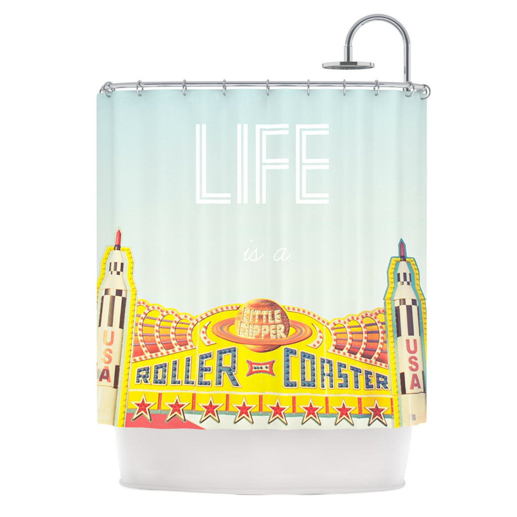 "Libertad Leal ""Life is a Rollercoaster"" Shower Curtain - KESS InHouse"