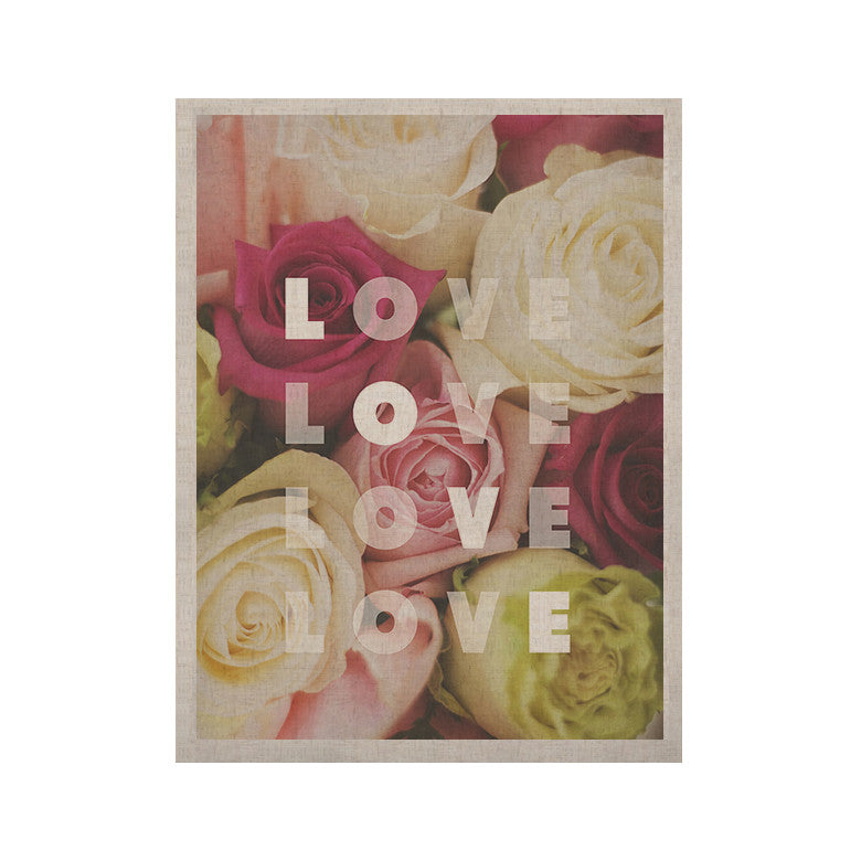"Libertad Leal ""Love Love Love"" Roses KESS Naturals Canvas (Frame not Included) - KESS InHouse  - 1"