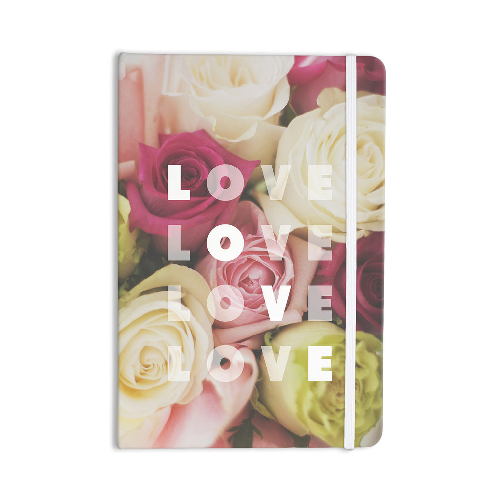 "Libertad Leal ""Love Love Love"" Roses Everything Notebook - KESS InHouse  - 1"
