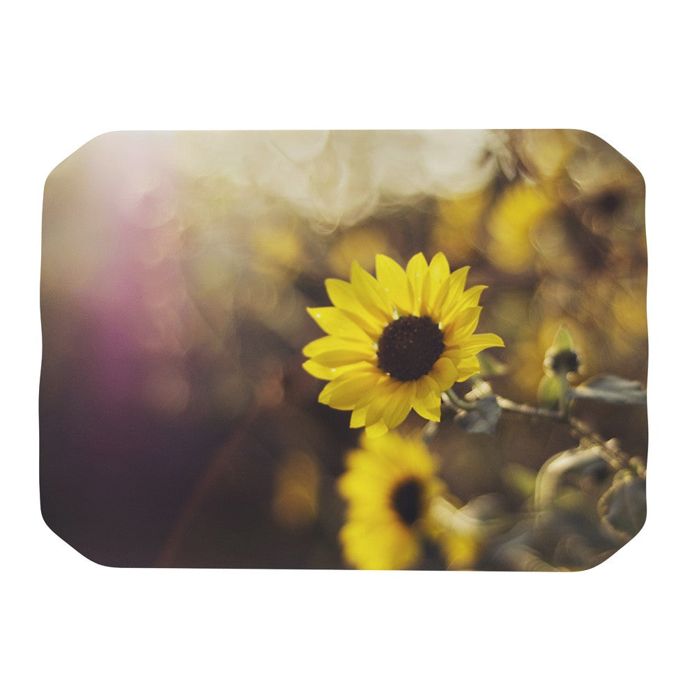 "Libertad Leal ""Magic Light"" Flower Place Mat - KESS InHouse"