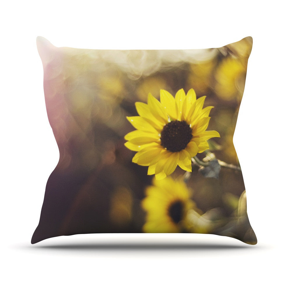 "Libertad Leal ""Magic Light"" Flower Outdoor Throw Pillow - KESS InHouse  - 1"