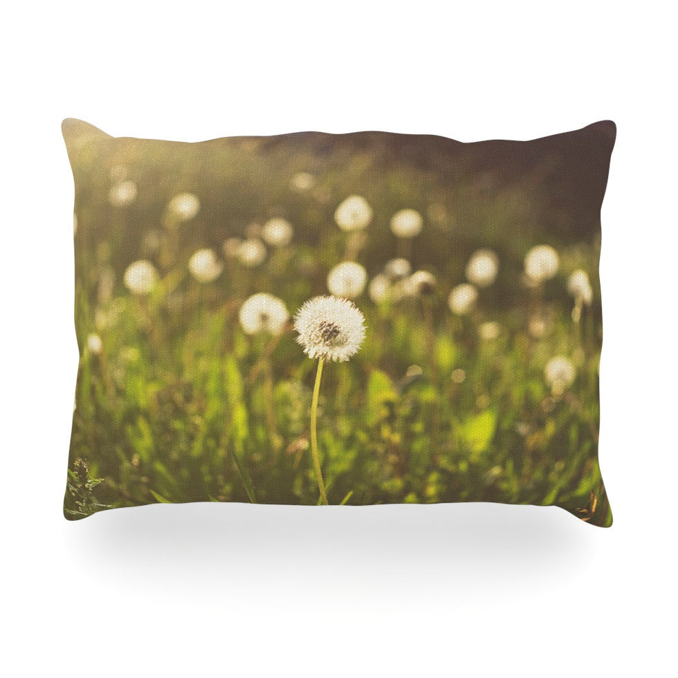 "Libertad Leal ""As You Wish"" Dandelions Oblong Pillow - KESS InHouse"