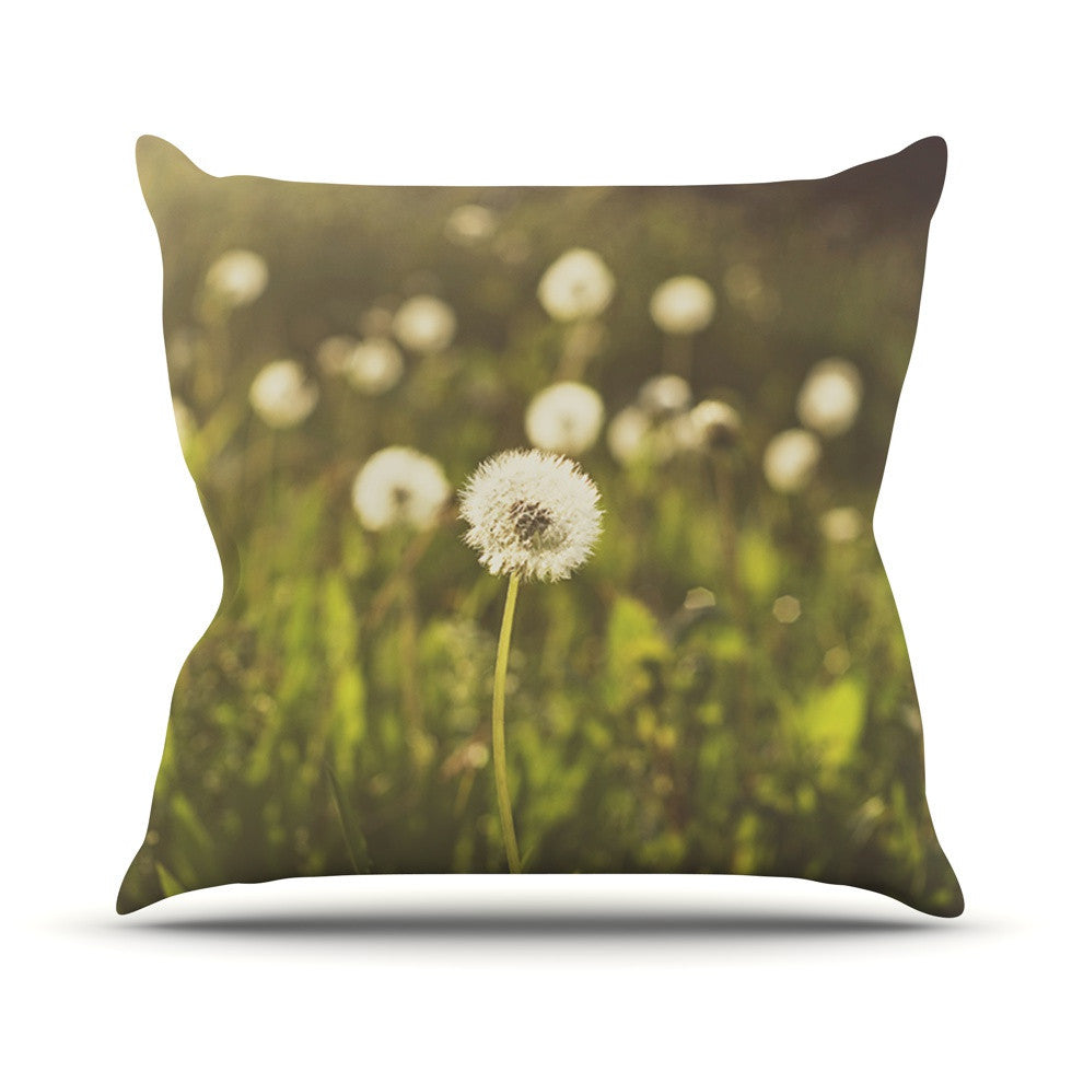 "Libertad Leal ""As You Wish"" Dandelions Outdoor Throw Pillow - KESS InHouse  - 1"