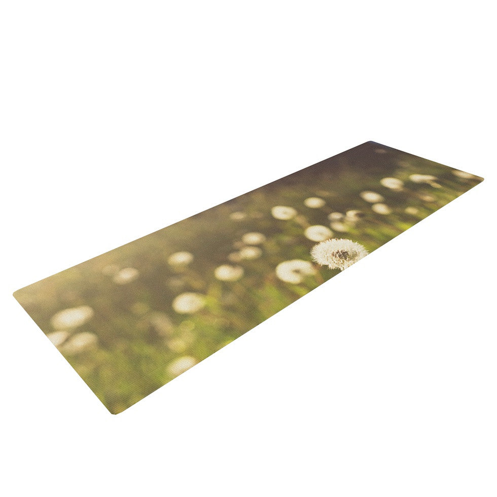 "Libertad Leal ""As You Wish"" Dandelions Yoga Mat - KESS InHouse  - 1"