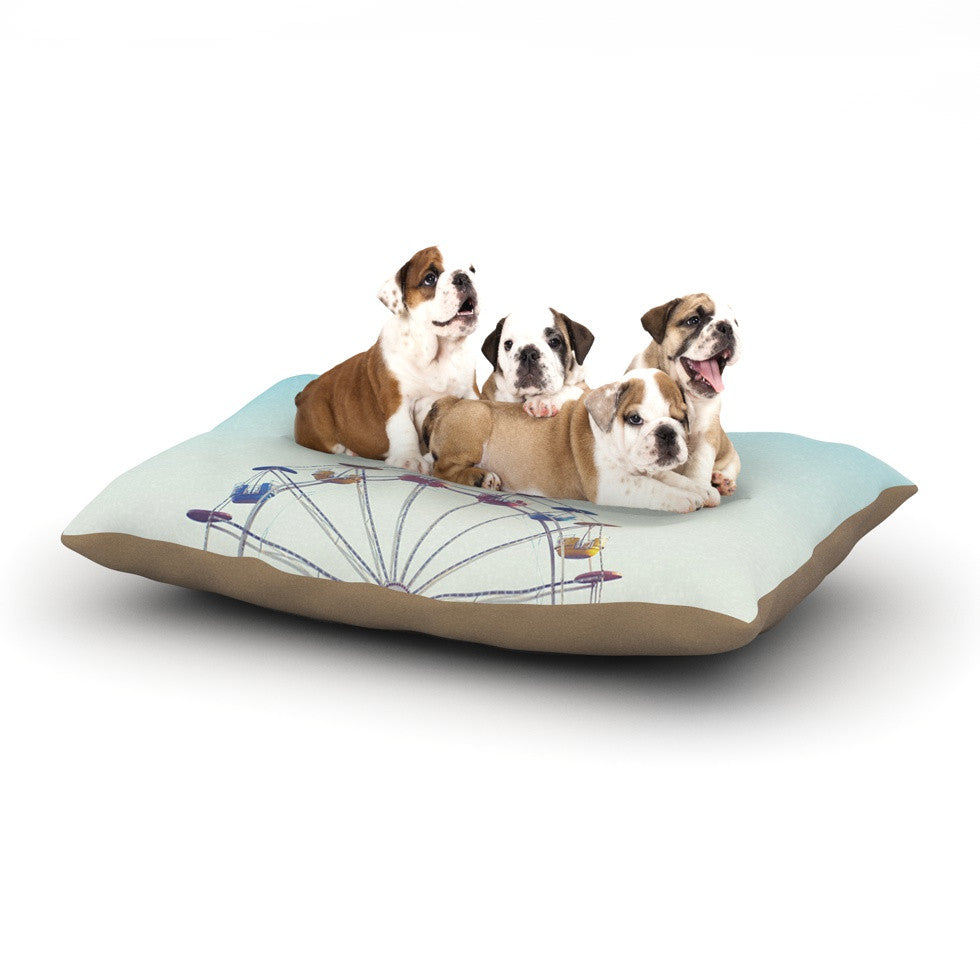 "Libertad Leal ""Don't Stop Believing"" Ferris Wheel Dog Bed - KESS InHouse  - 1"