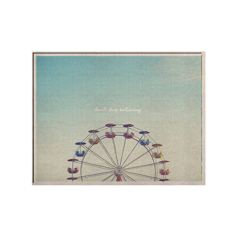 "Libertad Leal ""Don't Stop Believing"" Ferris Wheel KESS Naturals Canvas (Frame not Included) - KESS InHouse  - 1"