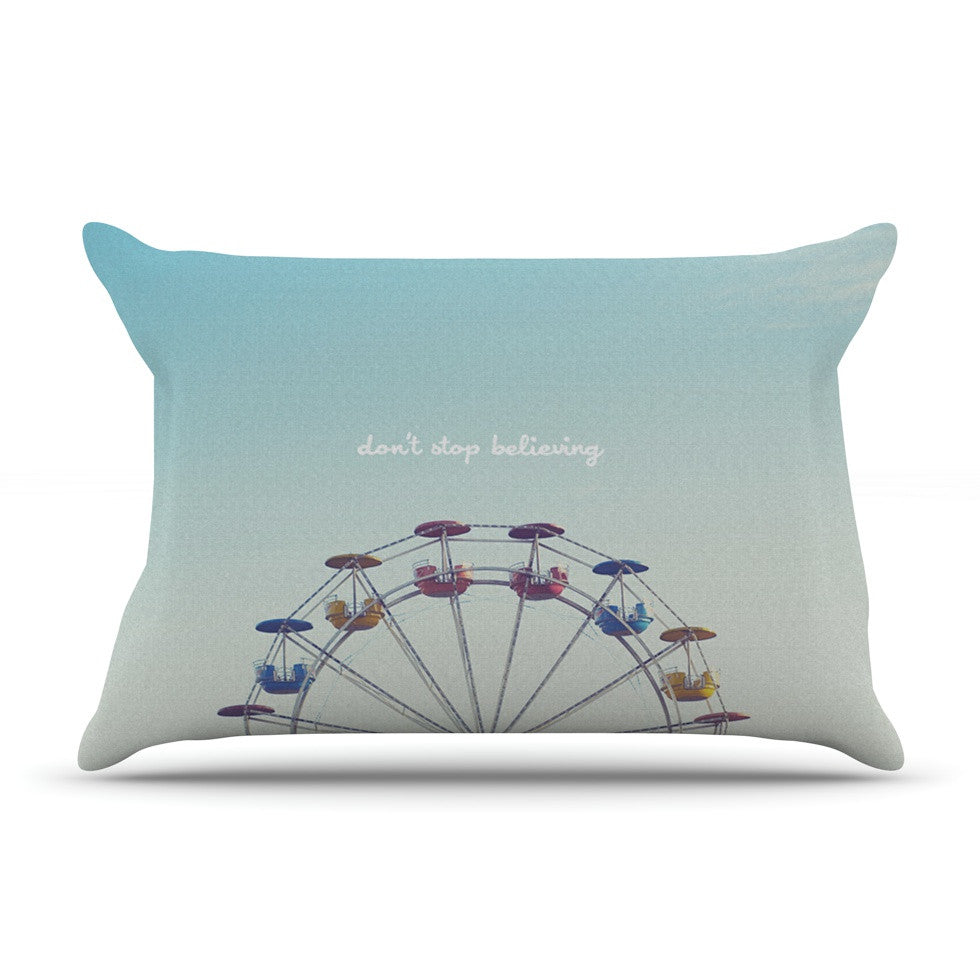 "Libertad Leal ""Don't Stop Believing"" Ferris Wheel Pillow Sham - KESS InHouse"