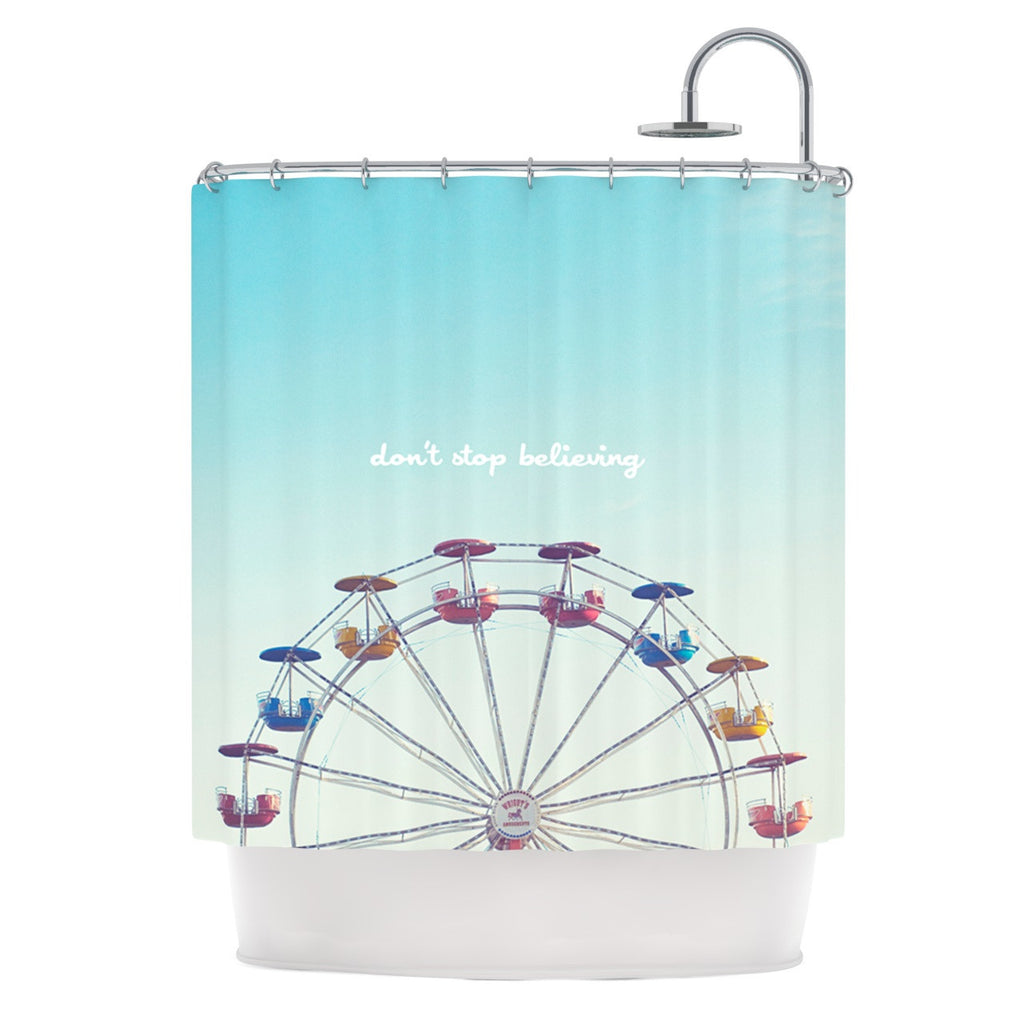"Libertad Leal ""Don't Stop Believing"" Ferris Wheel Shower Curtain - KESS InHouse"