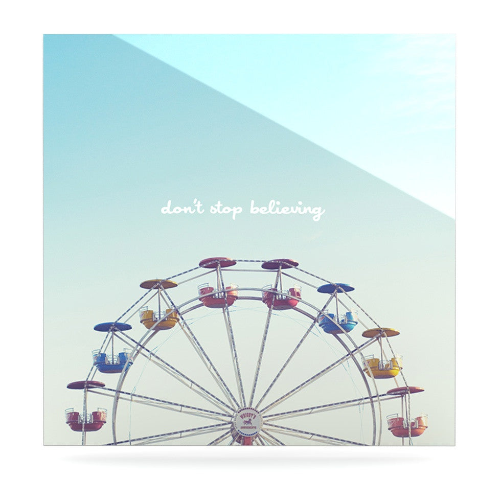 "Libertad Leal ""Don't Stop Believing"" Ferris Wheel Luxe Square Panel - KESS InHouse  - 1"