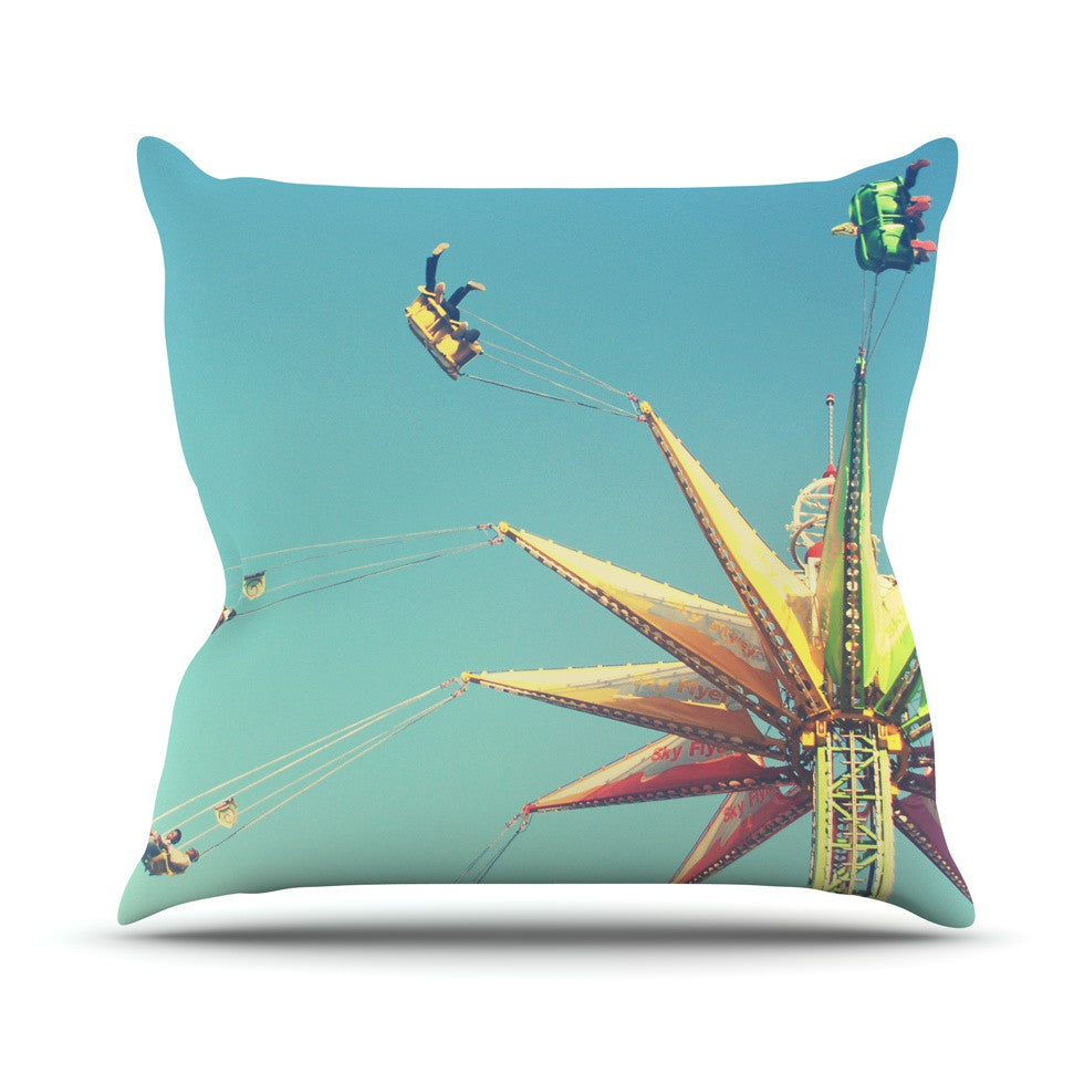 "Libertad Leal ""Flying Chairs"" Throw Pillow - KESS InHouse  - 1"
