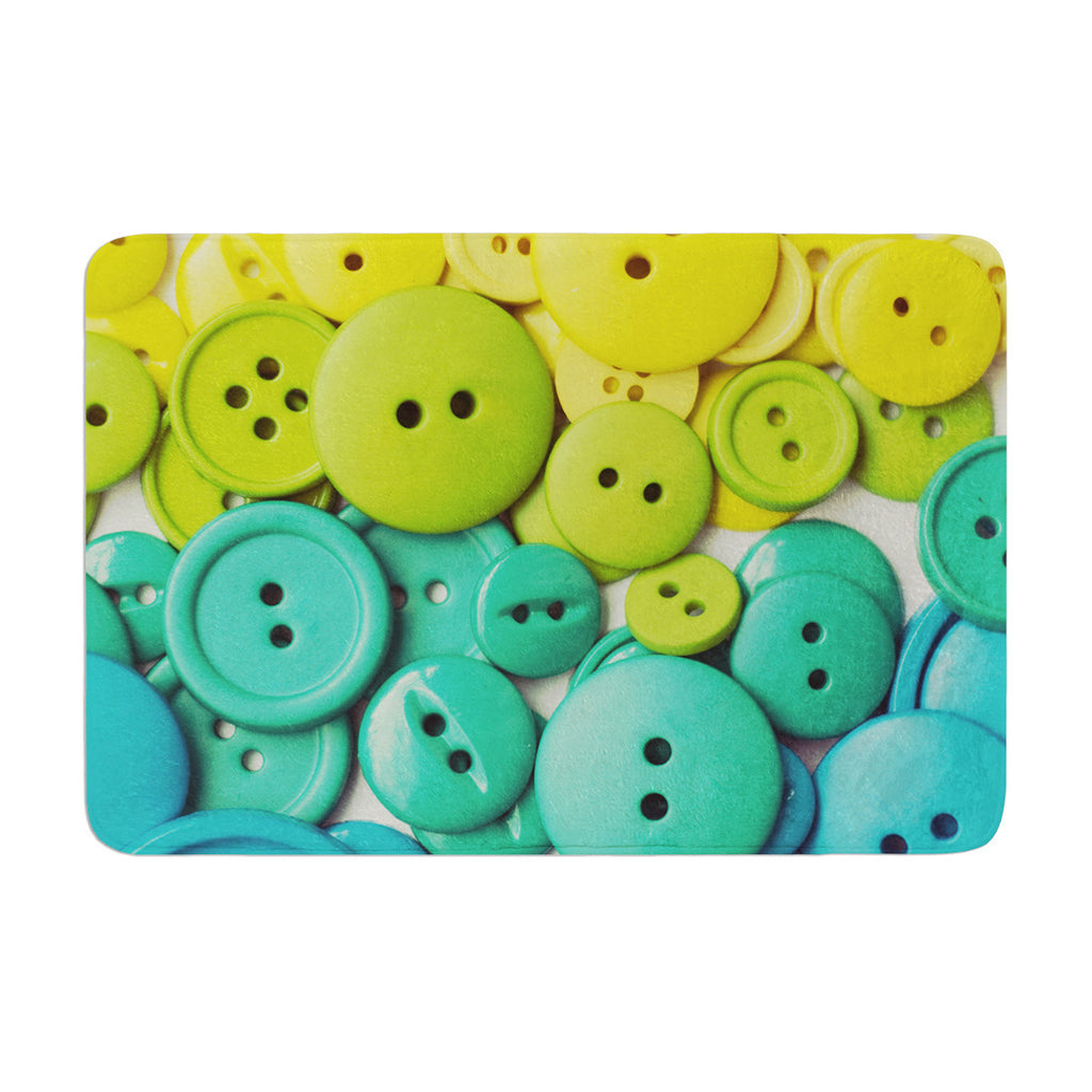 "Libertad Leal ""Cute as a Button"" Memory Foam Bath Mat - KESS InHouse"