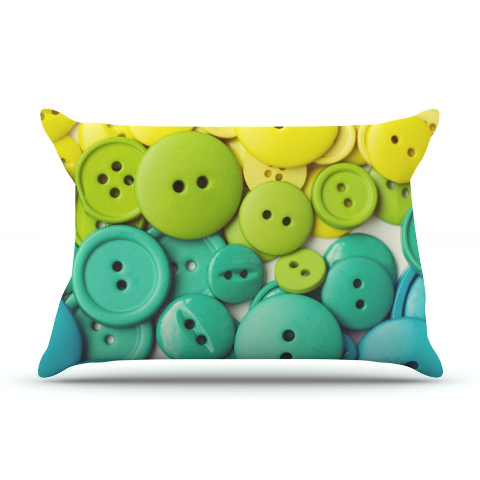 "Libertad Leal ""Cute as a Button"" Pillow Sham - KESS InHouse"