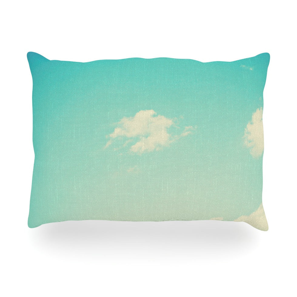 "Libertad Leal ""Cloud 9"" Blue Sky Oblong Pillow - KESS InHouse"