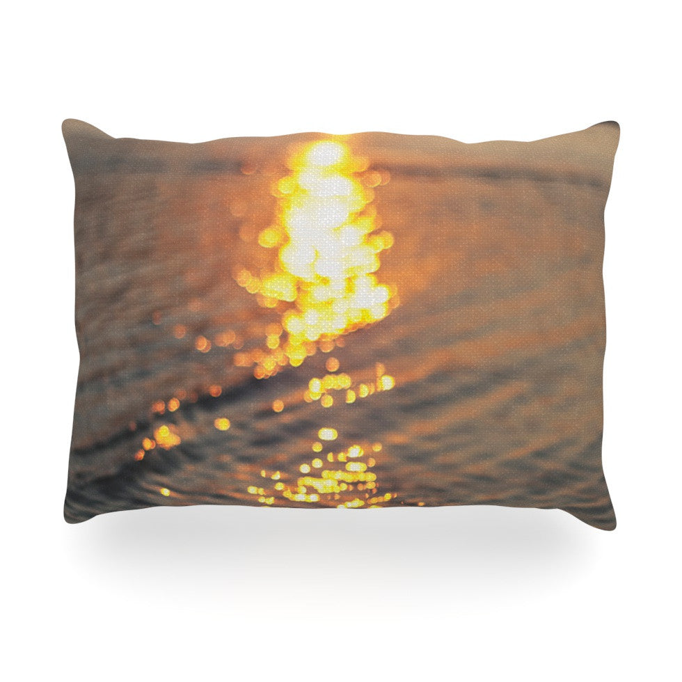 "Libertad Leal ""Still Waters"" Sunset Oblong Pillow - KESS InHouse"