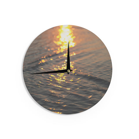 "Libertad Leal ""Still Waters"" Sunset Wall Clock - Outlet Item"