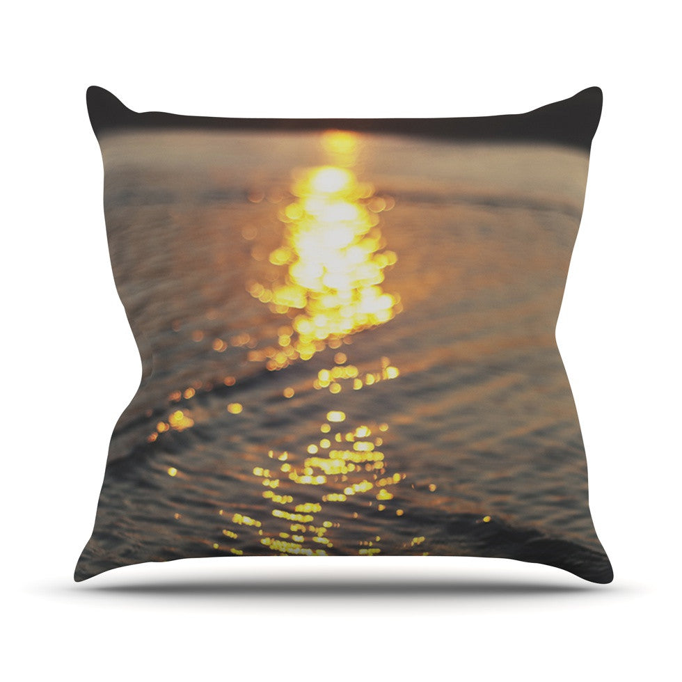 "Libertad Leal ""Still Waters"" Sunset Outdoor Throw Pillow - KESS InHouse  - 1"
