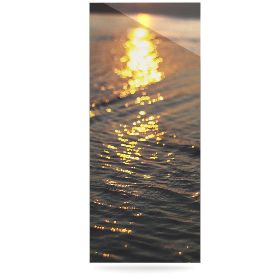 "Libertad Leal ""Still Waters"" Sunset Luxe Rectangle Panel - KESS InHouse  - 1"