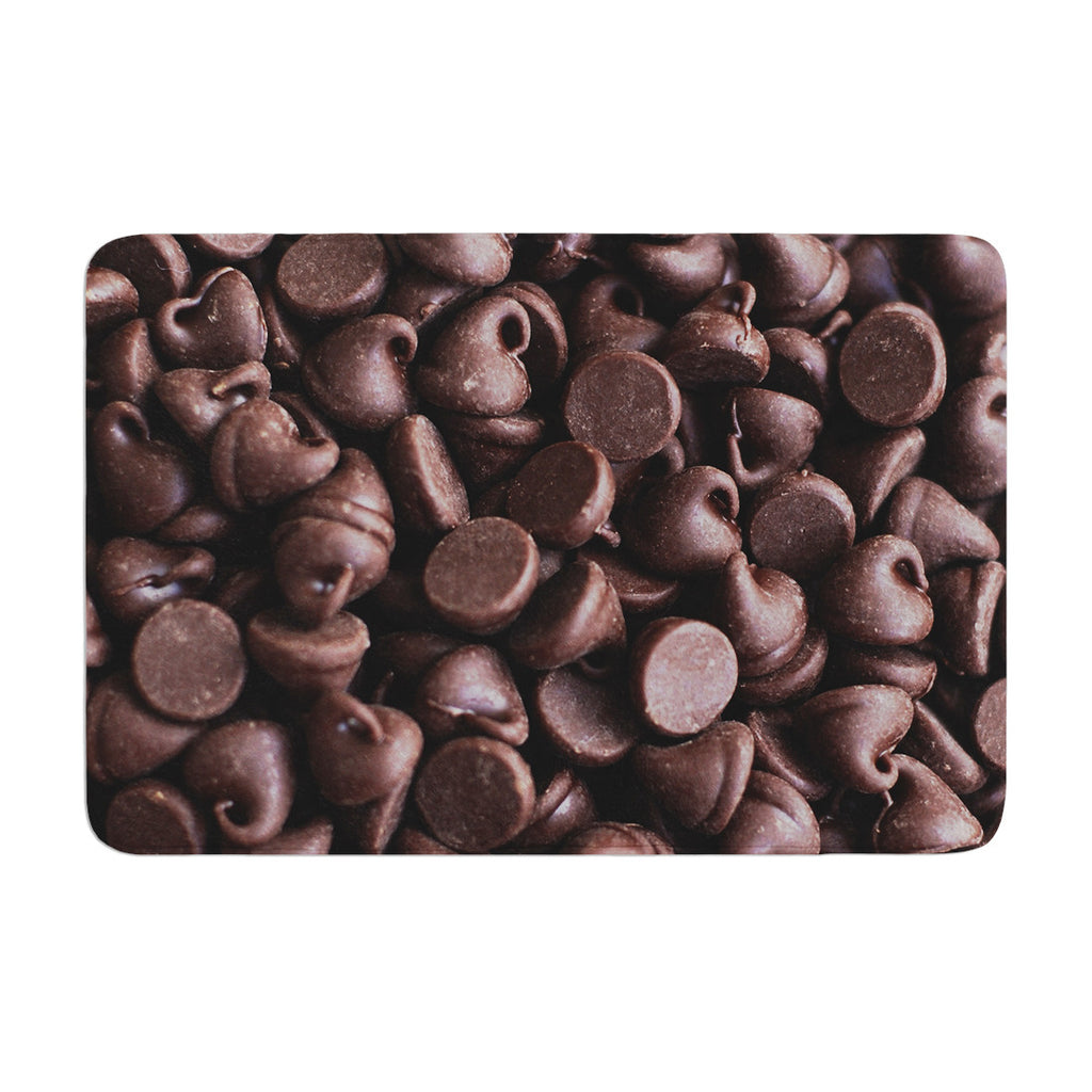 "Libertad Leal ""Yay! Chocolate"" Candy Memory Foam Bath Mat - KESS InHouse"