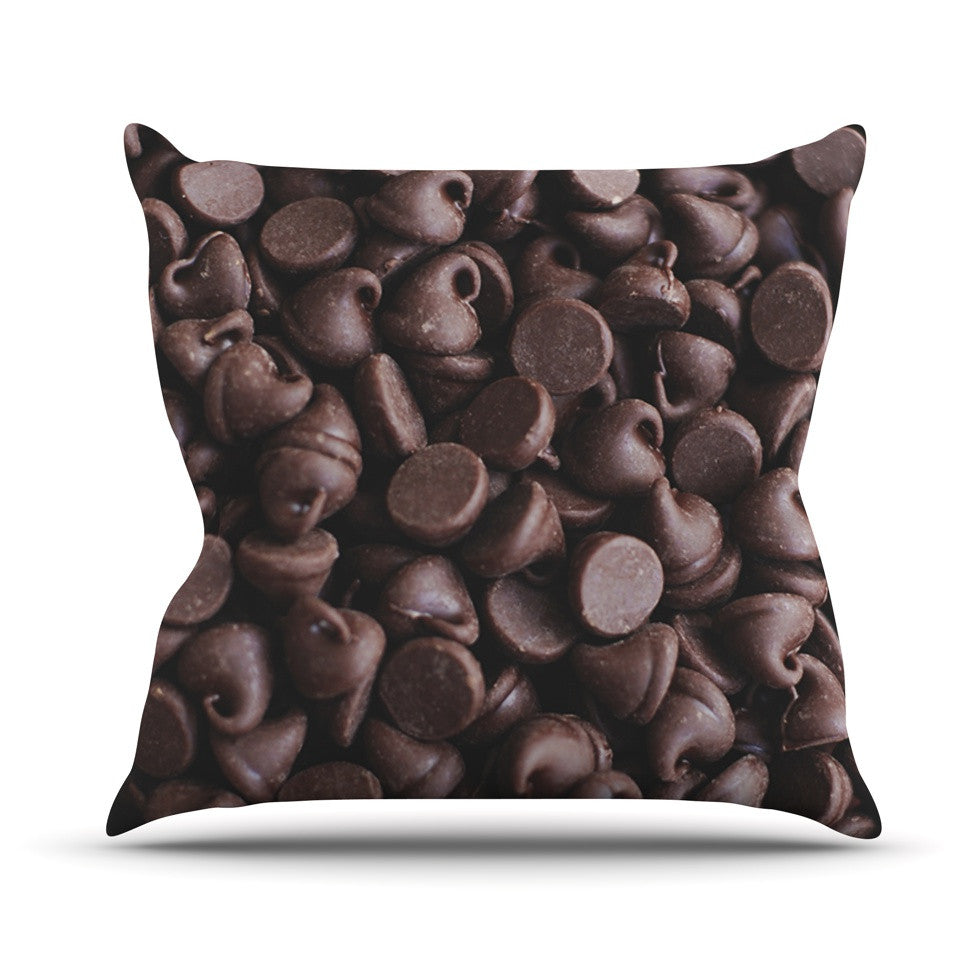 "Libertad Leal ""Yay! Chocolate"" Candy Outdoor Throw Pillow - KESS InHouse  - 1"