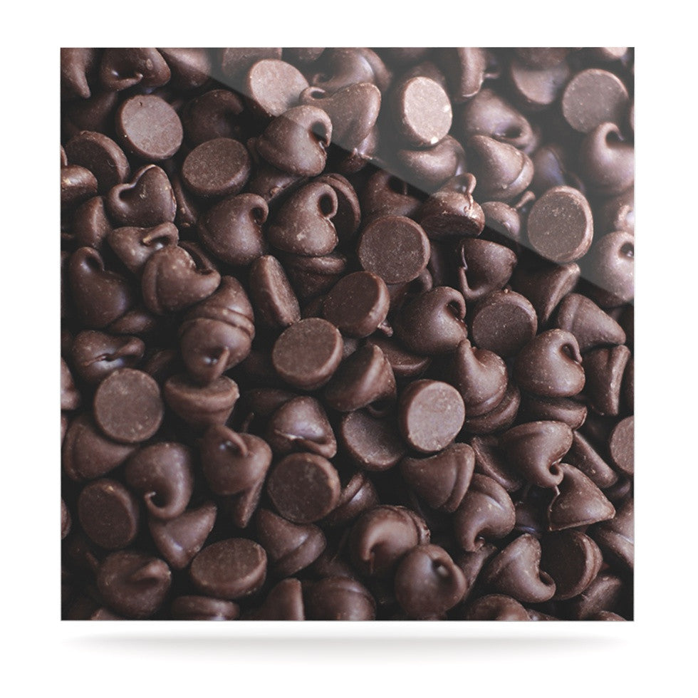 "Libertad Leal ""Yay! Chocolate"" Candy Luxe Square Panel - KESS InHouse  - 1"