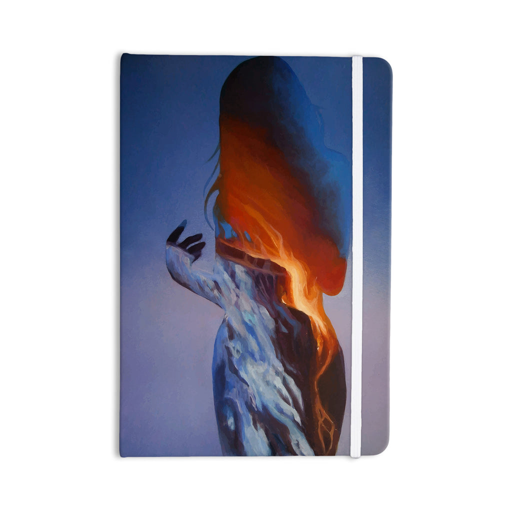 "Lydia Martin ""Volcano Girl Blue"" Everything Notebook - KESS InHouse  - 1"