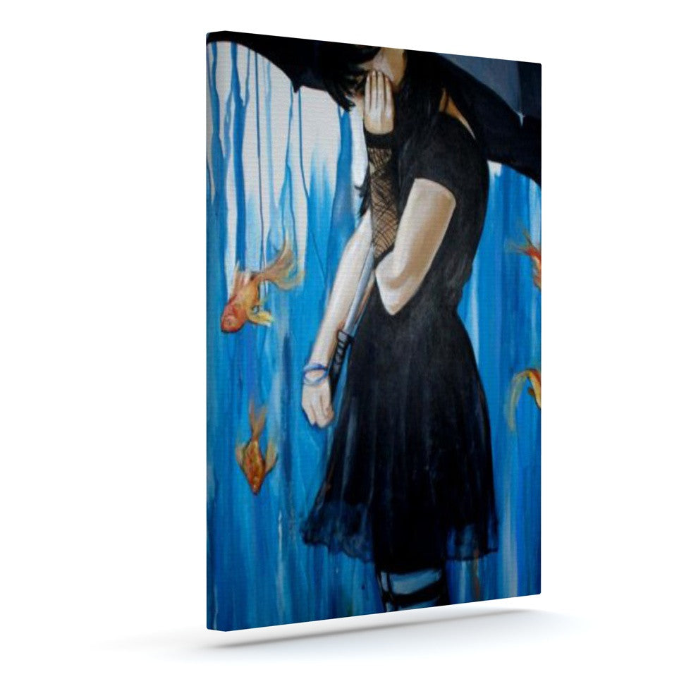 "Lydia Martin ""Sink or Swim""  Outdoor Canvas Wall Art - KESS InHouse  - 1"