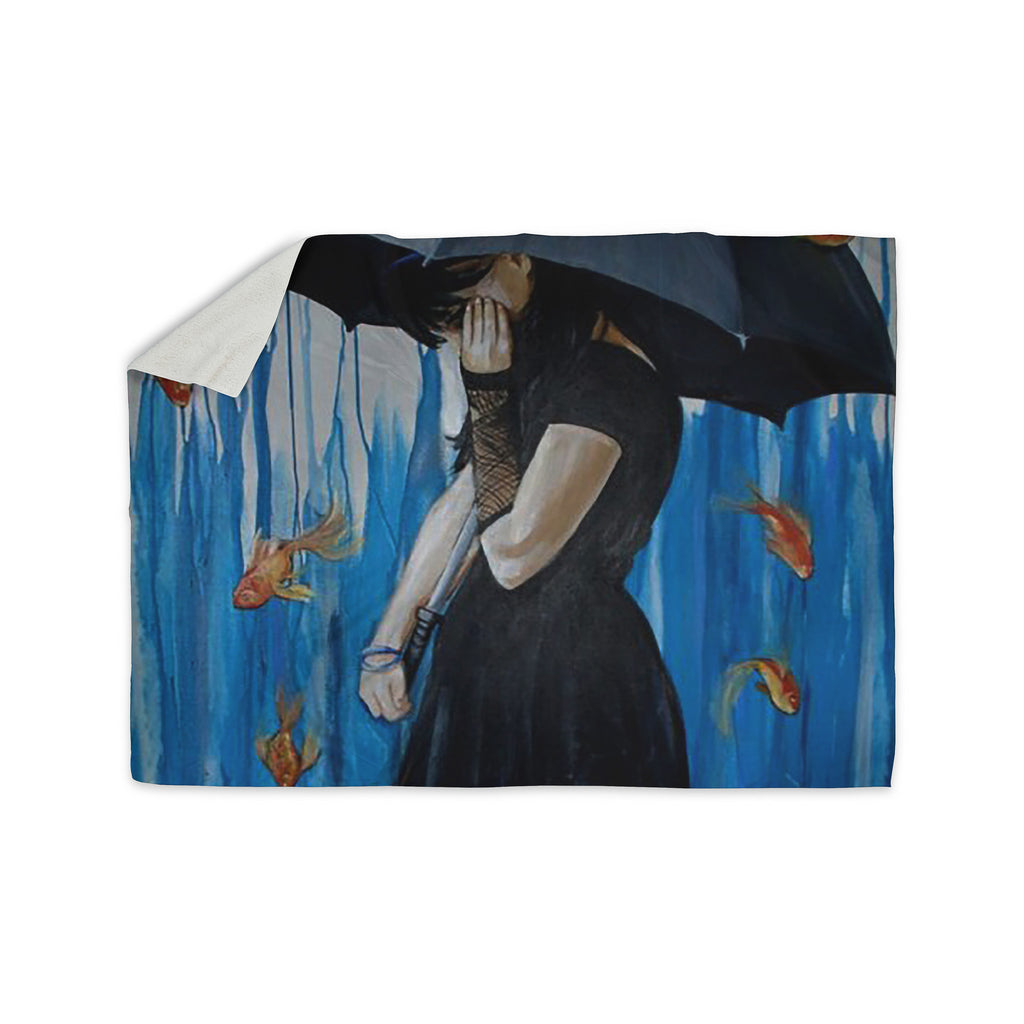 "Lydia Martin ""Sink or Swim"" Sherpa Blanket - KESS InHouse  - 1"