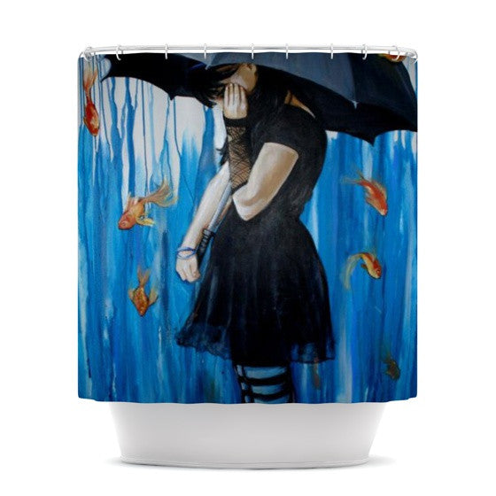 "Lydia Martin ""Sink or Swim"" Shower Curtain - KESS InHouse"