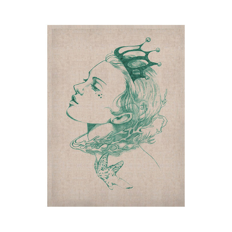 "Lydia Martin ""Queen of the Sea Green"" KESS Naturals Canvas (Frame not Included) - KESS InHouse  - 1"
