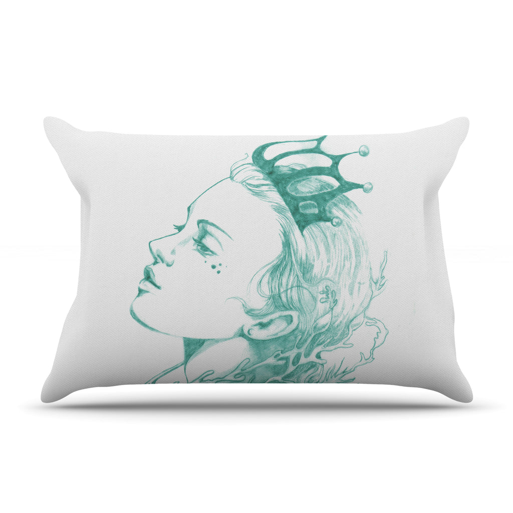 "Lydia Martin ""Queen of the Sea Green"" Pillow Sham"