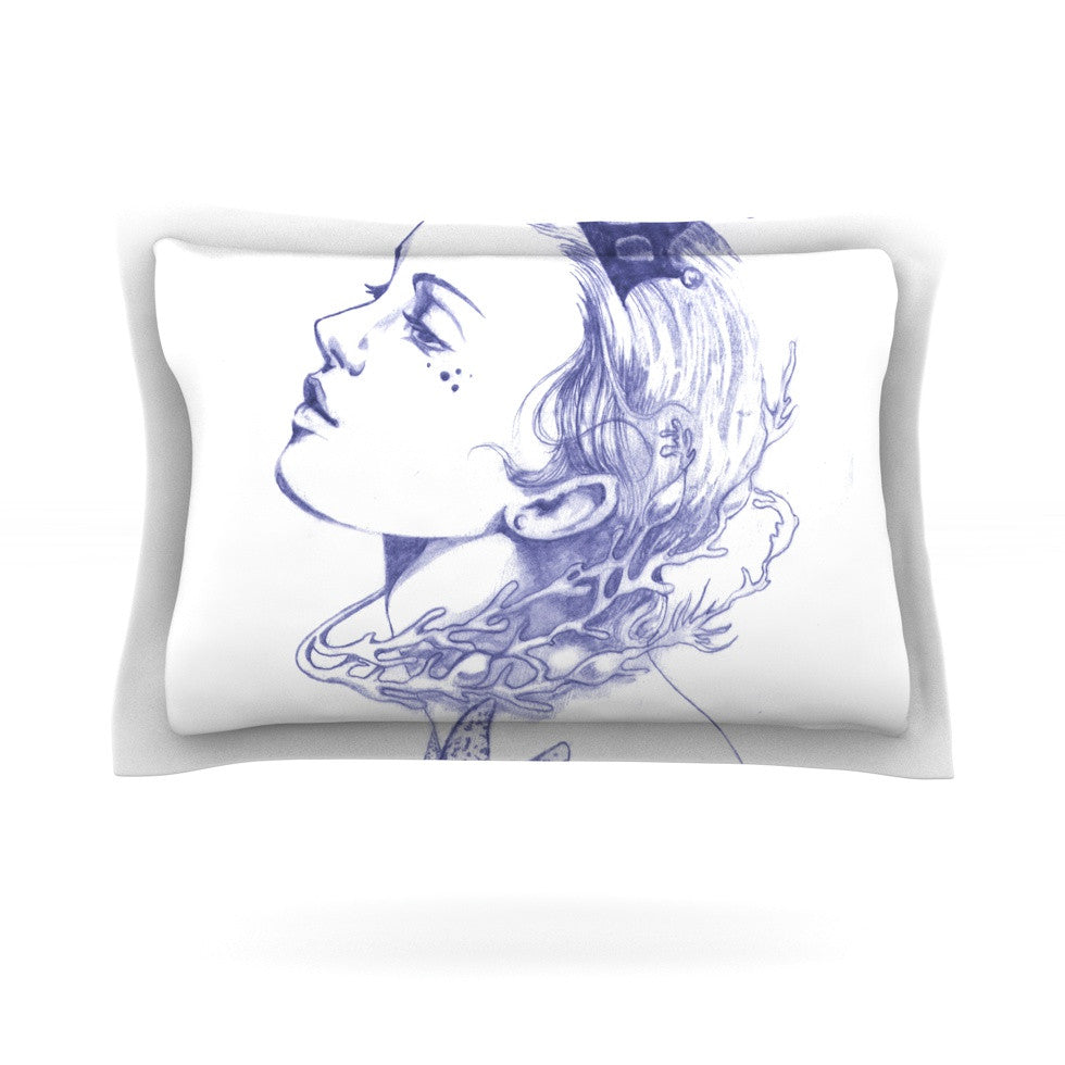 "Lydia Martin ""Queen of the Sea Purple"" Pillow Sham - KESS InHouse  - 1"