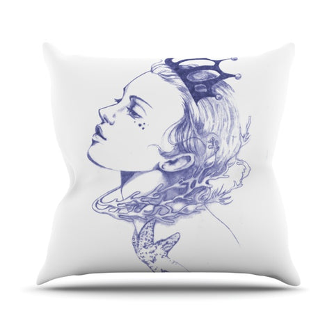 "Lydia Martin ""Queen Of The Sea""  Outdoor Throw Pillow - Outlet Item"
