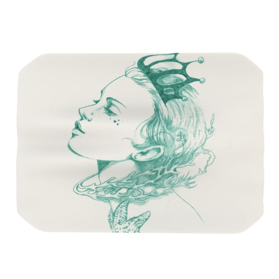 "Lydia Martin ""Queen of the Sea Green"" Place Mat - KESS InHouse"