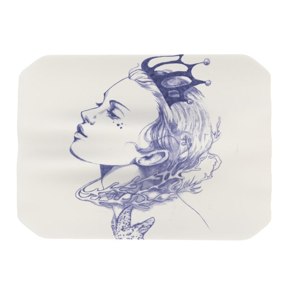 "Lydia Martin ""Queen of the Sea Purple"" Place Mat - KESS InHouse"