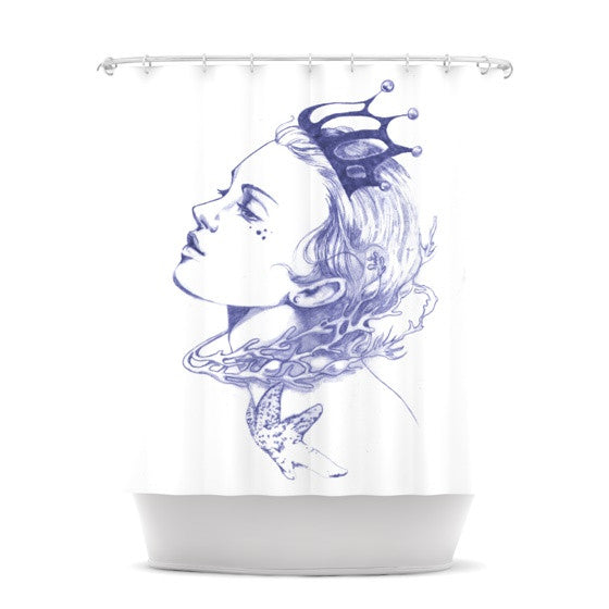 "Lydia Martin ""Queen of the Sea Purple"" Shower Curtain - KESS InHouse"