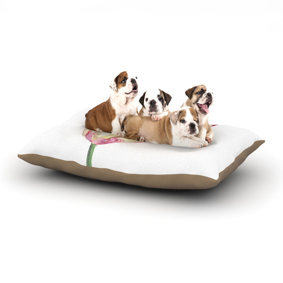 "Lydia Martin ""Red Tip Tulip"" Dog Bed - KESS InHouse  - 1"