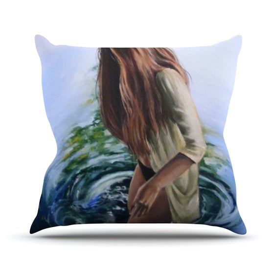 "Lydia Martin ""Knee Deep"" Throw Pillow - KESS InHouse  - 1"