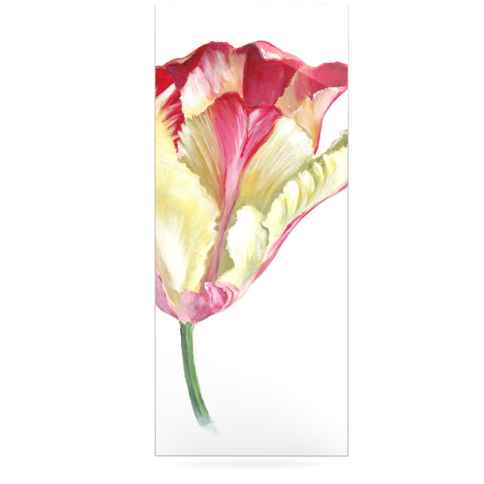 "Lydia Martin ""Red Tip Tulip"" Luxe Rectangle Panel - KESS InHouse  - 1"