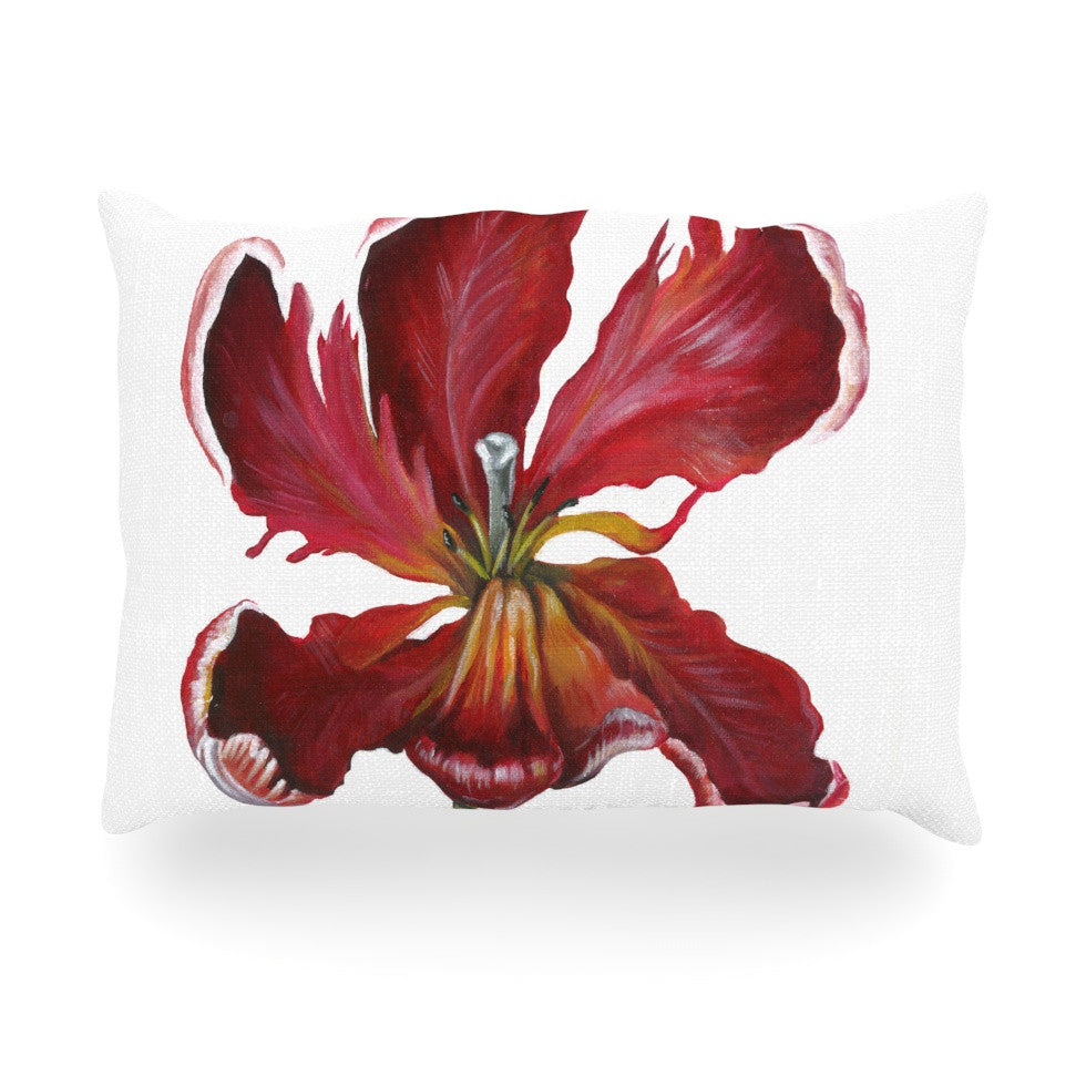 "Lydia Martin ""Open Tulip"" Oblong Pillow - KESS InHouse"