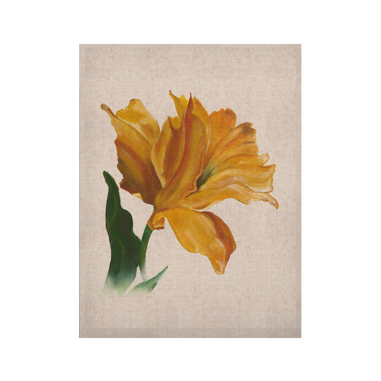 "Lydia Martin ""Yellow Tulip"" KESS Naturals Canvas (Frame not Included) - KESS InHouse  - 1"