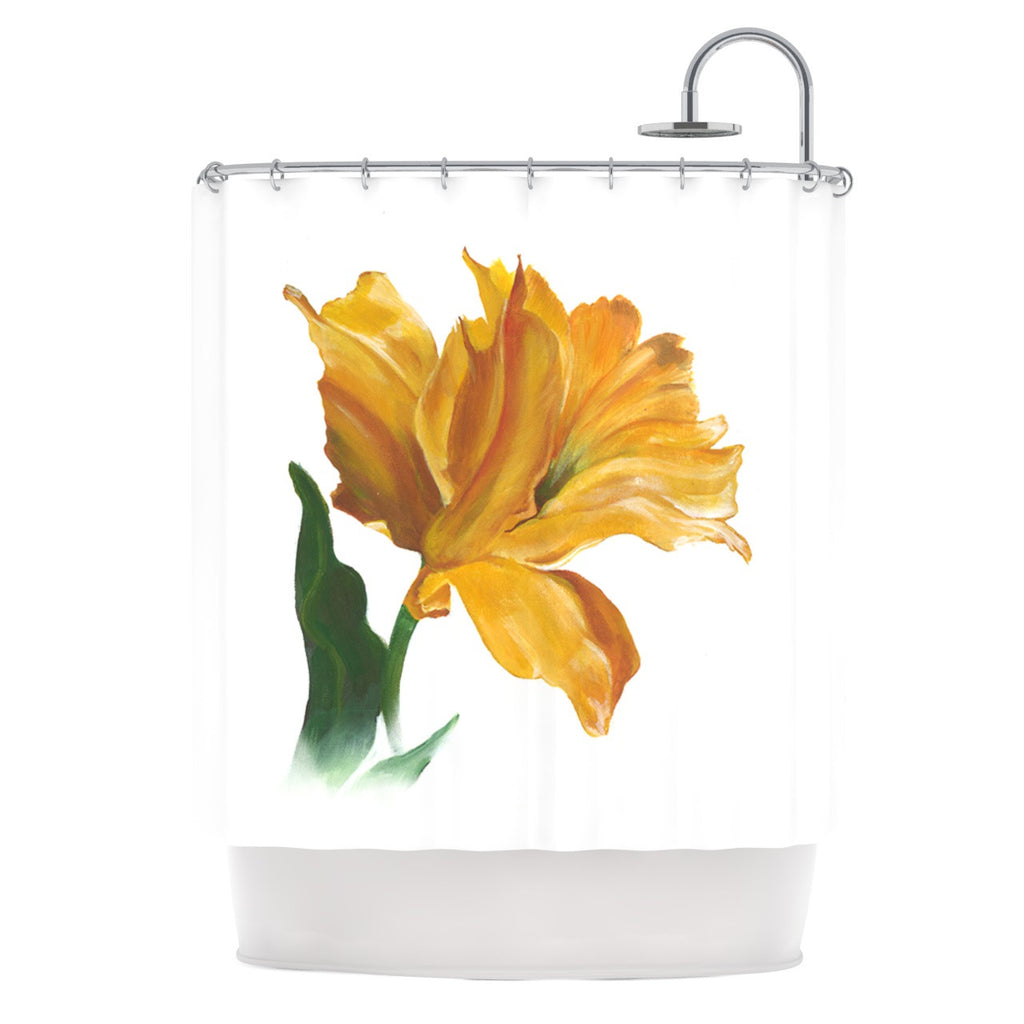 "Lydia Martin ""Yellow Tulip"" Shower Curtain - KESS InHouse"