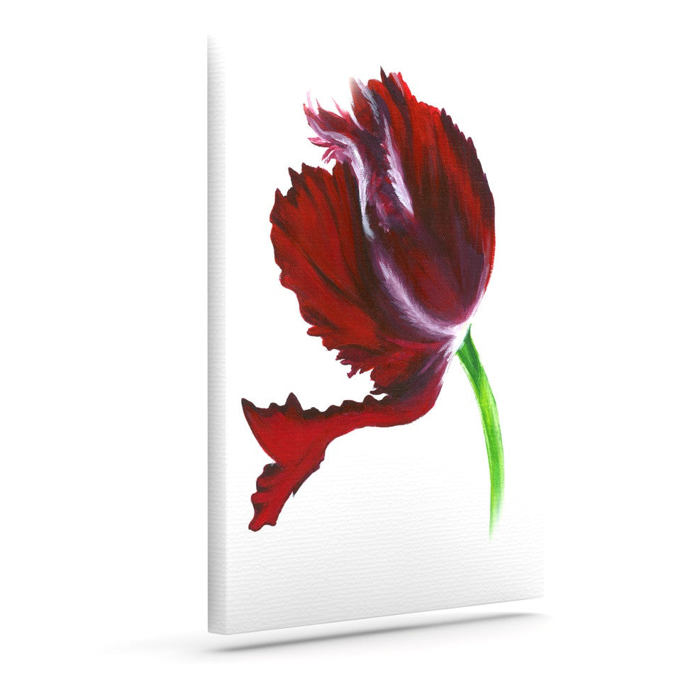"Lydia Martin ""Dark Purple Tulip"" Outdoor Canvas Wall Art - KESS InHouse  - 1"