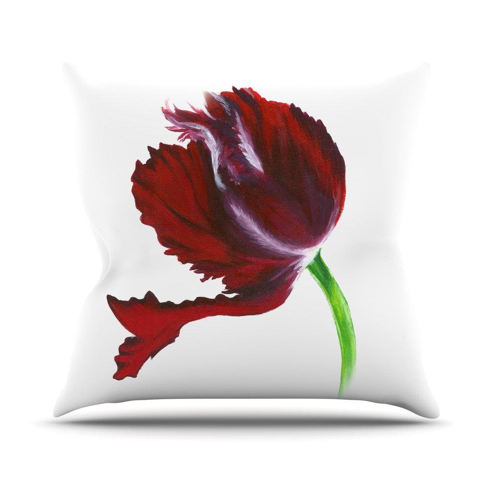 "Lydia Martin ""Dark Purple Tulip"" Throw Pillow - KESS InHouse  - 1"