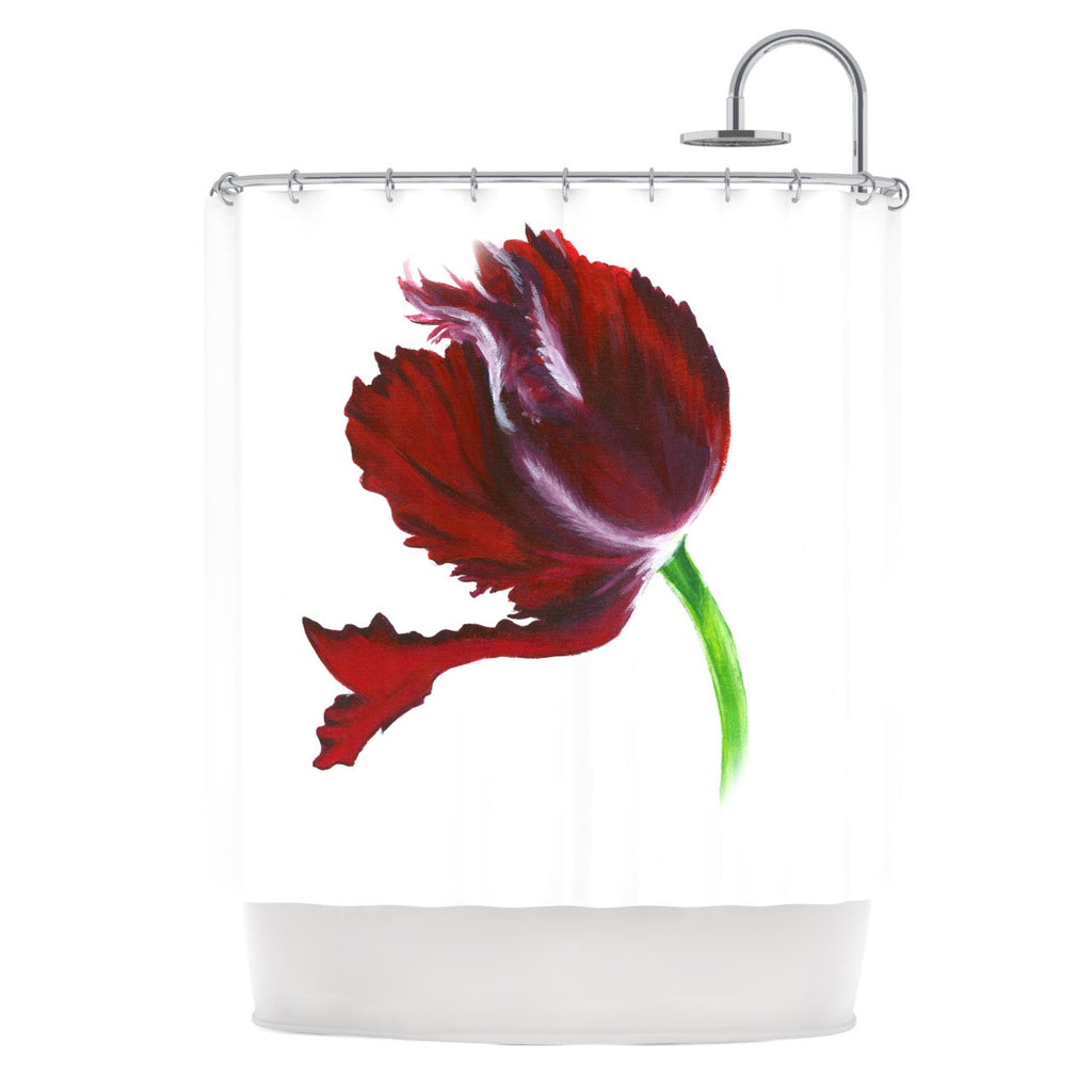 "Lydia Martin ""Dark Purple Tulip"" Shower Curtain - KESS InHouse"