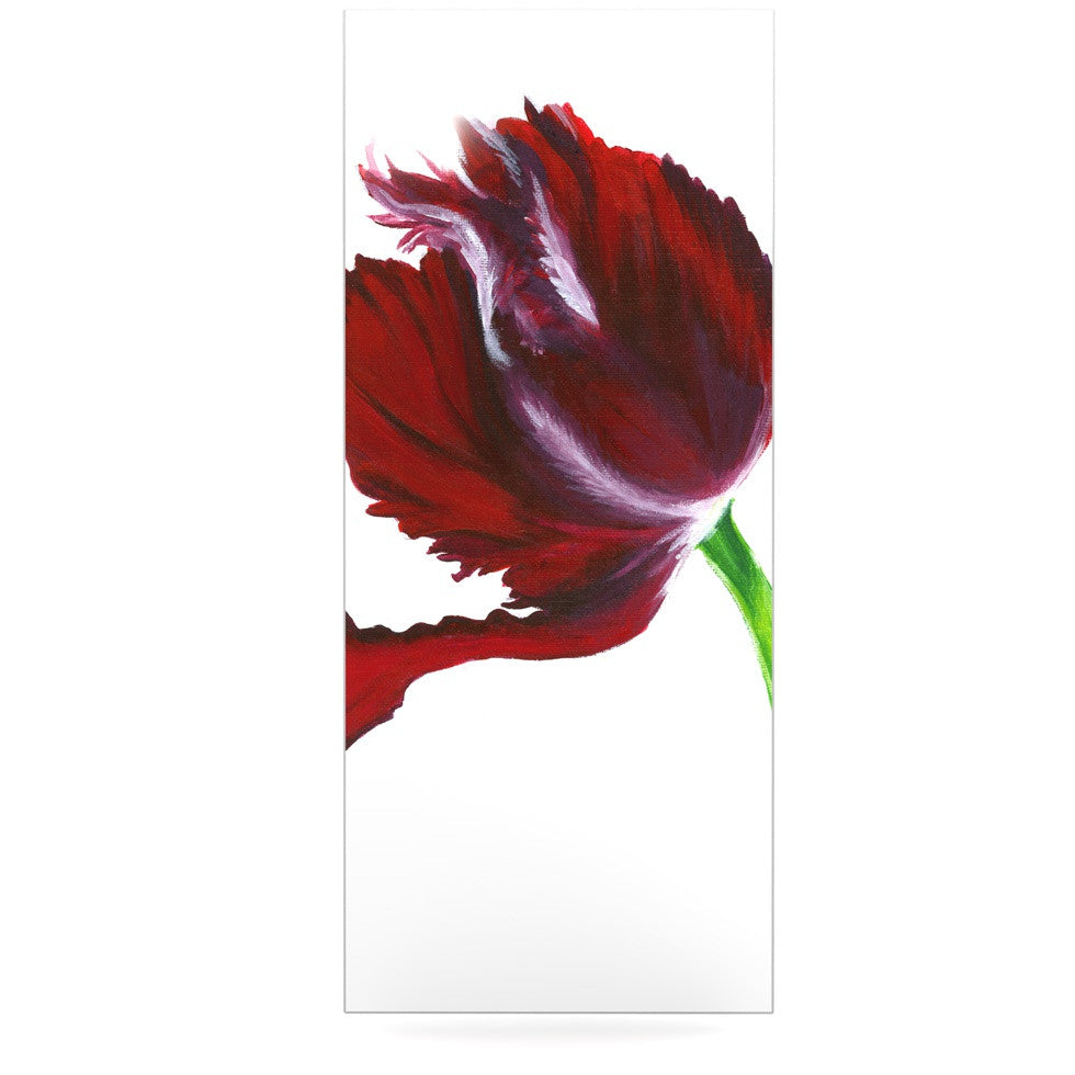 "Lydia Martin ""Dark Purple Tulip"" Luxe Rectangle Panel - KESS InHouse  - 1"