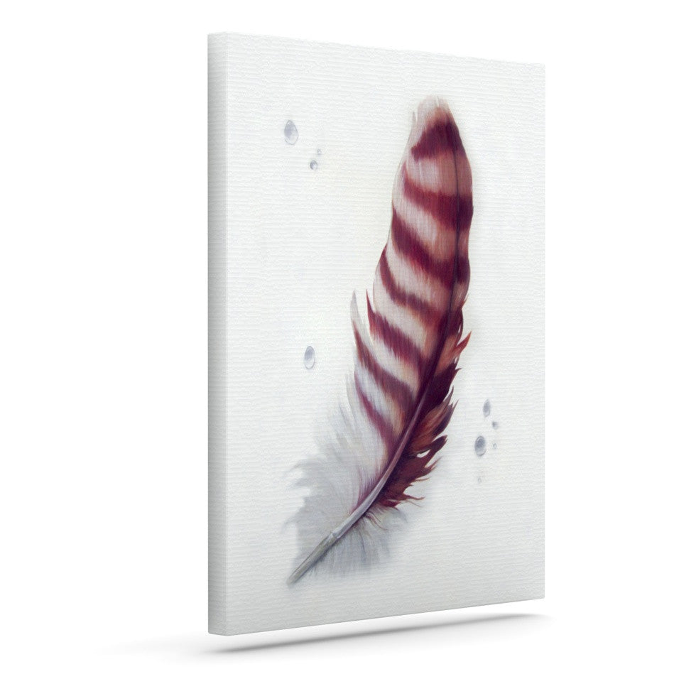 "Lydia Martin ""The Feather"" Outdoor Canvas Wall Art - KESS InHouse  - 1"