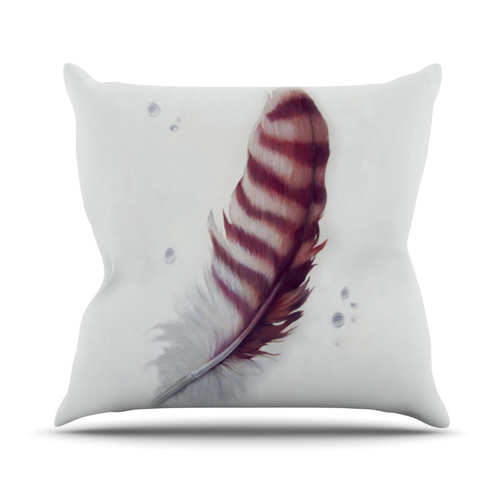 "Lydia Martin ""The Feather"" Outdoor Throw Pillow - KESS InHouse  - 1"