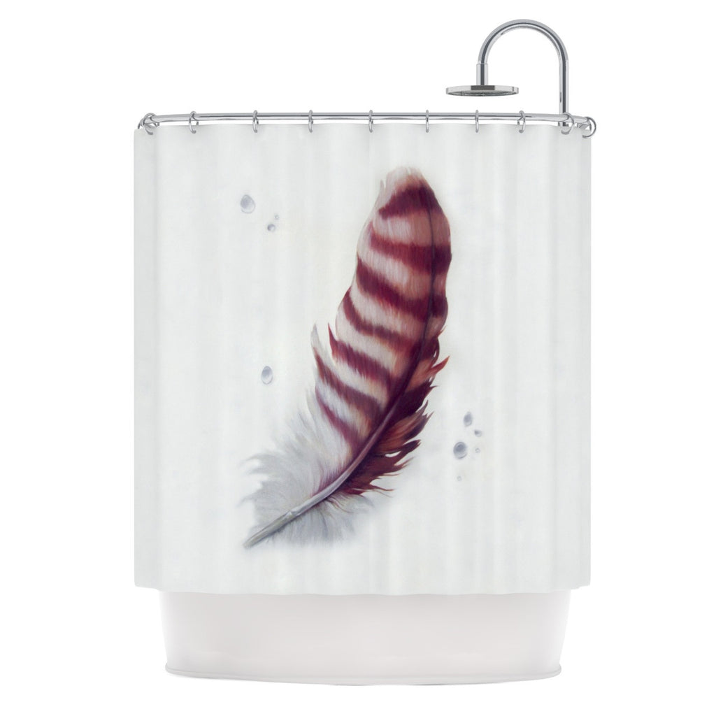 "Lydia Martin ""The Feather"" Shower Curtain - KESS InHouse"
